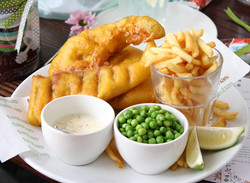 Tiger Beer Battered Fish with Sweet Ging