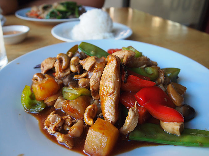 Sweet Cinnamon Cashew Chicken