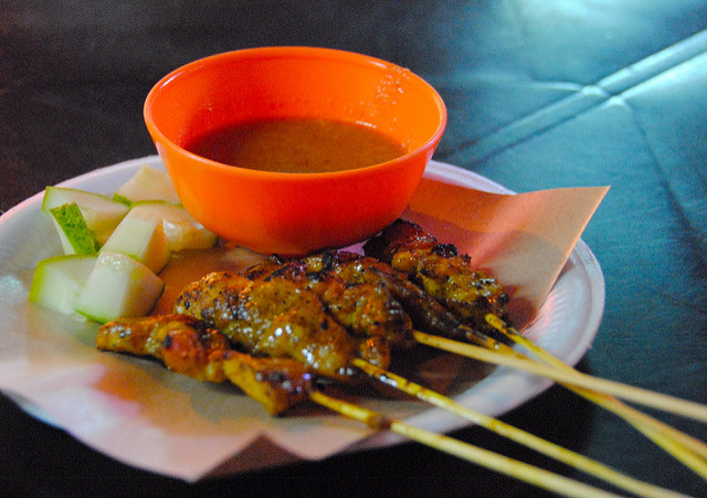 Indonesian Chicken Satay with Peanut Dre