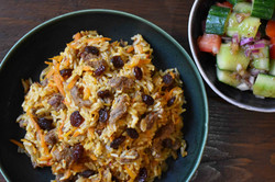 Uyghur Ginger-Cumin Lamb Polo Rice W