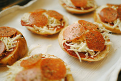 Spicy Sichuan Pepperoni Pizza Sliders -