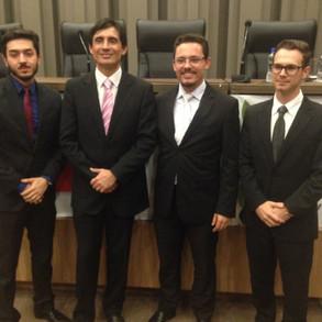 Ayres Monteiro e Salem presente napalestra do Prof. MSc. Carlos Alberto Pereira de Castro