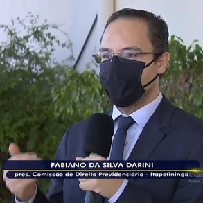 Em Reportagem para a TV TEM, Dr. Fabiano Darini orienta sobre saque do auxílio emergencial