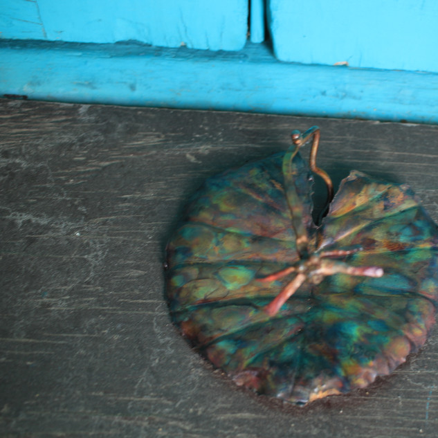 Crazy Dragonfly Small Lily Pad Trinket T