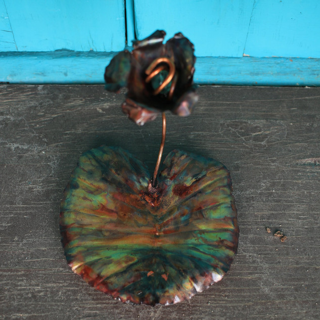 Green Flower Medium Lily Pad Trinket Tra