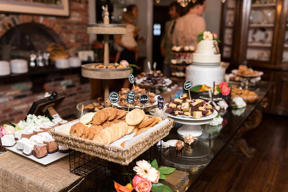 dessert spread wedding