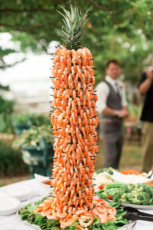 shrimp tower wedding
