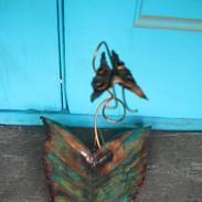 Scrolled Butterfly Elephant Ear Bowl