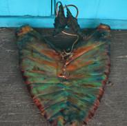 Copper Edge Butterfly Elephant Ear Bowl