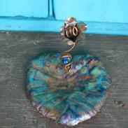 Blue Flower Medium Lily Pad TRinket Tray