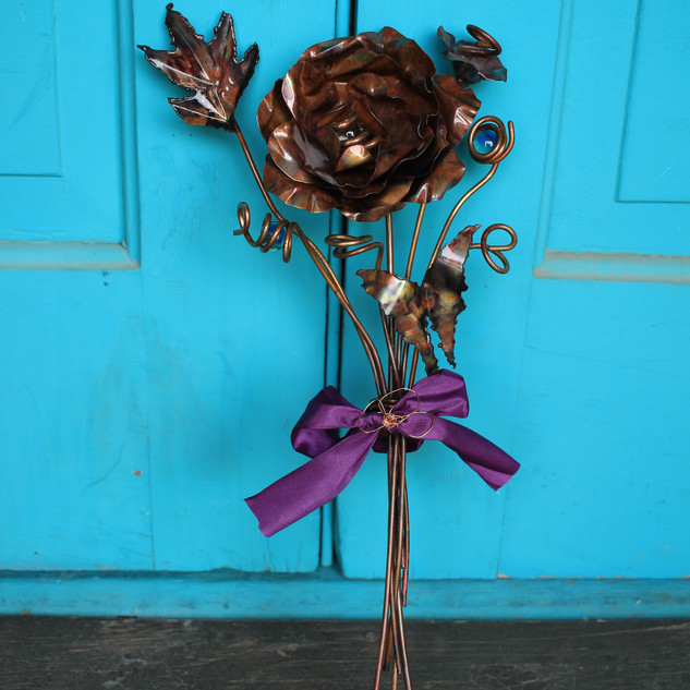 Single Rose and Butterfly Bouquet