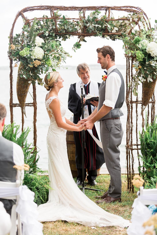 bayside wedding ceremony