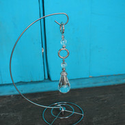 Teardrop Crystal Strand with Steel Stand