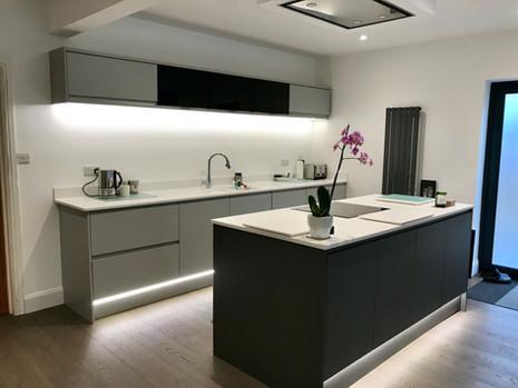 Sleek new kitchen