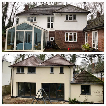 Double storey extension in Sevenoaks, Kent