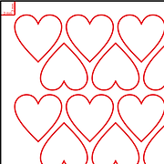 Heart Nesting Layout for Laser Cutting