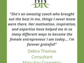 Kind words from Debra Thomas