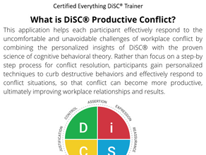 What is DiSC® Productive Conflict?
