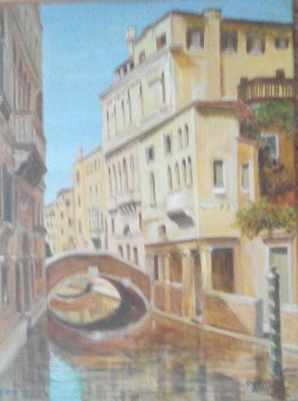 Венеция 2009 30'40 масло на холсте франц