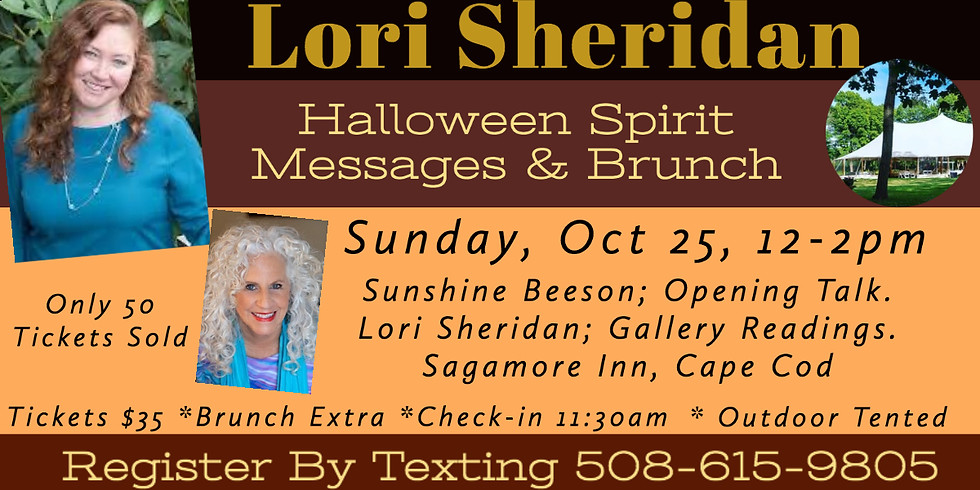 Halloween Spirit Messages & Brunch with Lori Sheridan