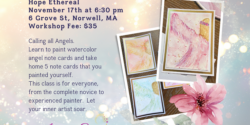Watercolor Angel Cards with Marsha Johnson | Hope Ethereal