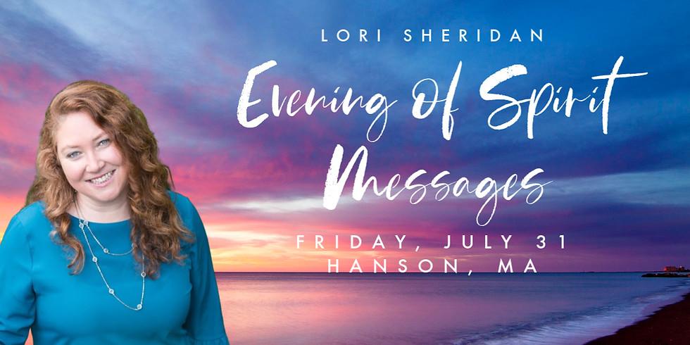 Spirit Messages with Lori Sheridan   Hanson, MA