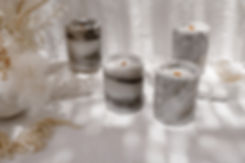 Marble soy wax candle