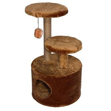 Домик-когтеточка 3-х уровневый круглый