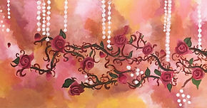 red roses vines and pearls