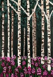 Dark Birch Forest