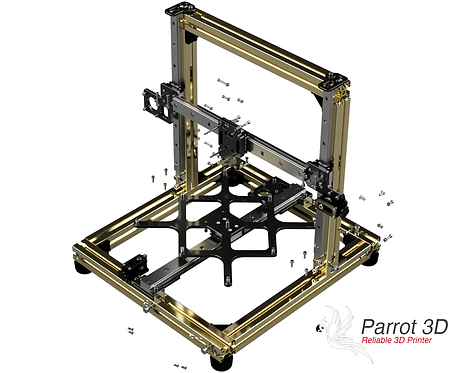 Prusa i3 (MK2, MK2.5(s) and MK3(s) to Parrot 3D Upgrade Kit