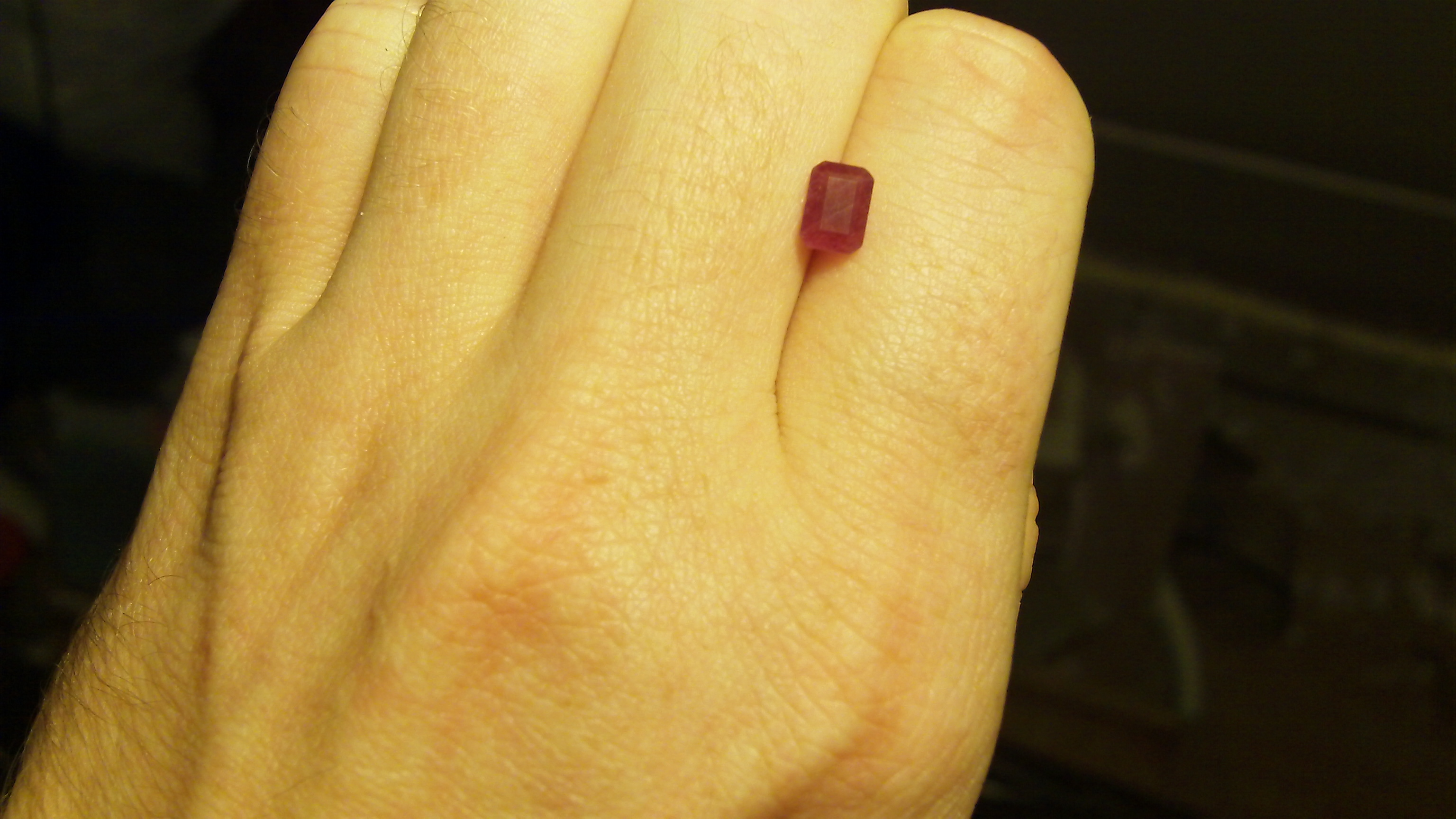 Faceted N.C. Star Ruby 1.25 cts.