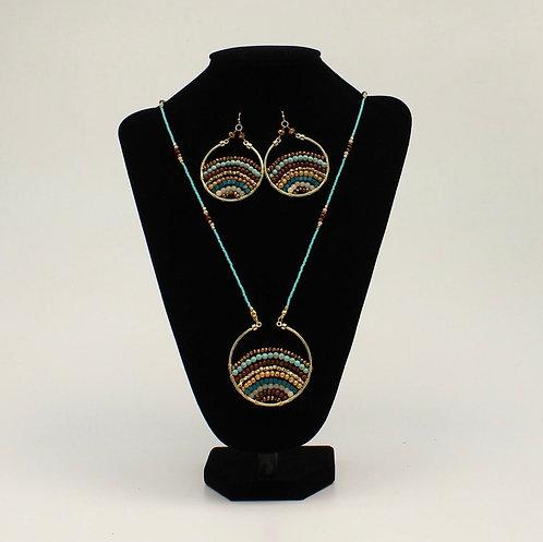 Necklace Set - Multi Turquoise