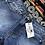 Thumbnail: High Waisted Fringed Washed Denim Shorts