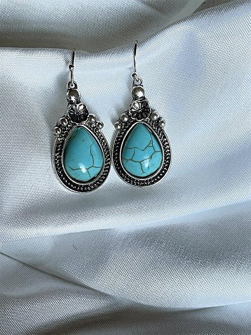 Turquoise Saginaw Teardrop Earrings