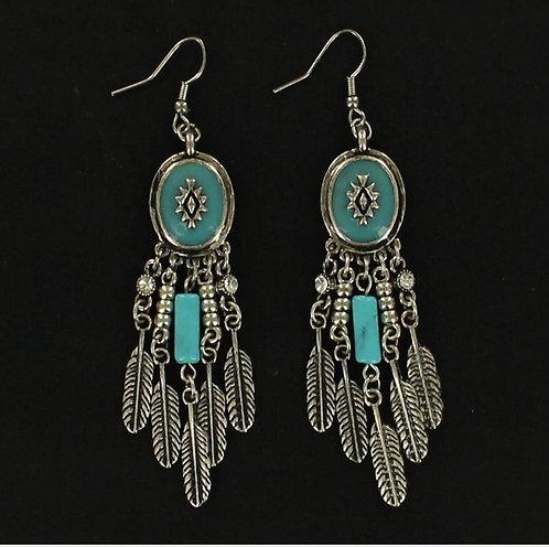 Earrings - Feather Fashion Drop