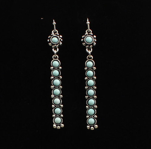 Earrings - Silver Barrs