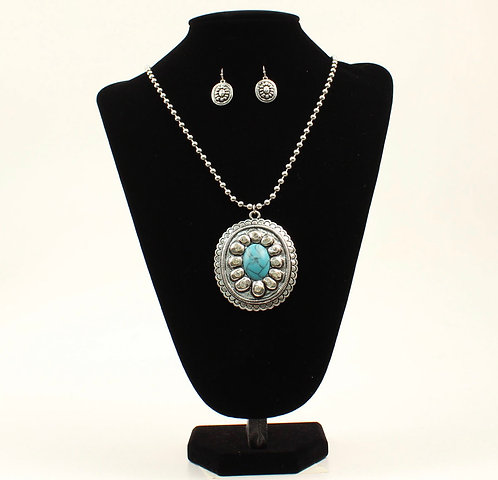 Necklace Set - Oval Turquoise Stone