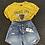 Thumbnail: Stretchy Folded Hem Ripped Denim Jean Shorts