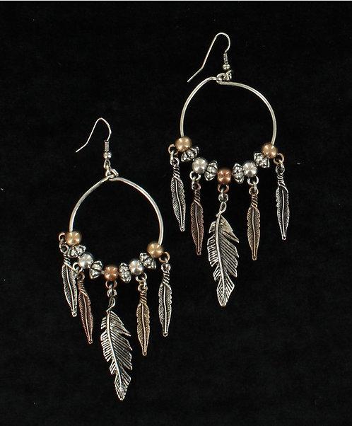 Earrings - Feather Drop
