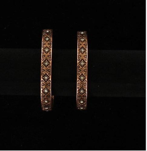Earrings - Aztec Style Hoop