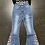 Thumbnail: Flare Bell Bottom Jeans Leopard Print