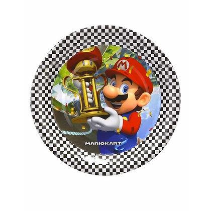 8 assiettes carton Super Mario 23 cm