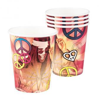 6 gobelets hippie 25 cl