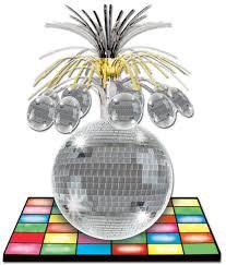 Centre de table piste de dance disco