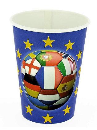 6 gobelet carton foot multi-nation