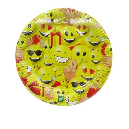 10 assiettes Emoji 23 cm