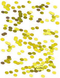 Confettis de table dorés