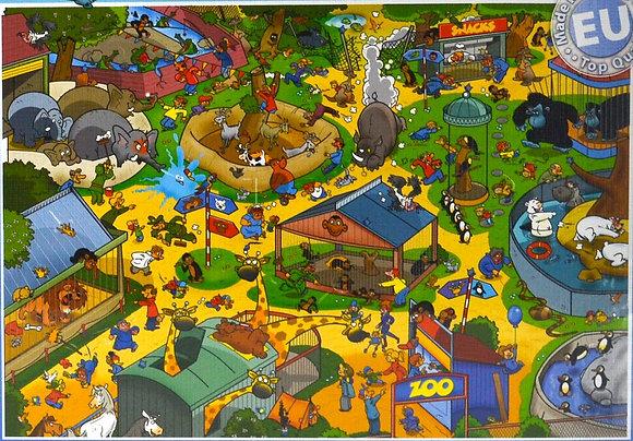 """Puzzle """"au zoo"""" 1000 pièces"""