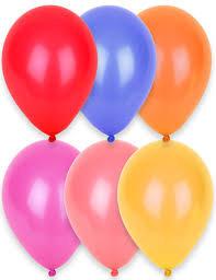 12 ballons différentes couleurs